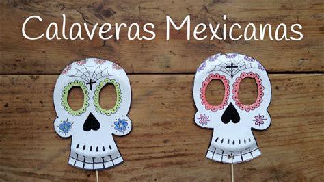 Cómo dibujar CALAVERAS MEXICANAS Manualidades para niños