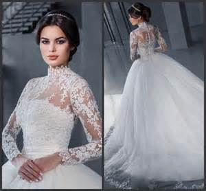 high neck wedding dresses high neck wedding dresses with wrap a line 2016 sleeve sheer applique tulle bridal