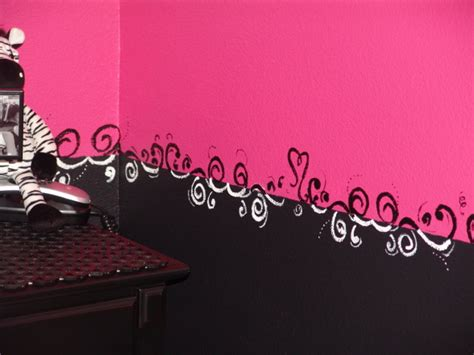 pink  black zebra teen girls bedroom