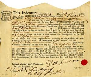 Indentured Servant Papers