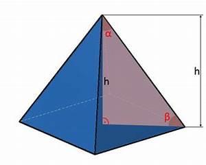 Grundfläche Pyramide Berechnen : pyramide kanten fl che volumen einer pyramide berechnen ~ Themetempest.com Abrechnung