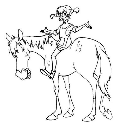 pippi longstocking coloring pages coloring home