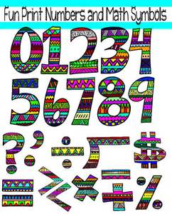 Numbers and Math Symbols Clip Art