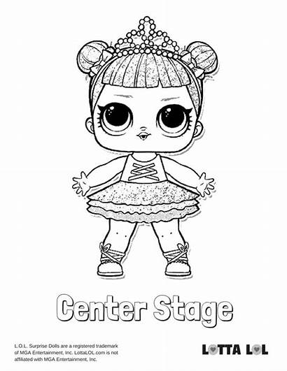 Lol Coloring Glitter Stage Center Pages Doll