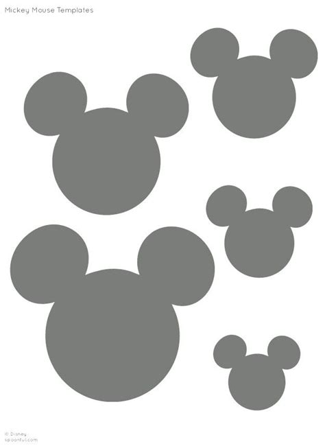 Mickey Mouse Shape Template by Mickey Mouse Silhouette Small Clipart Clipground