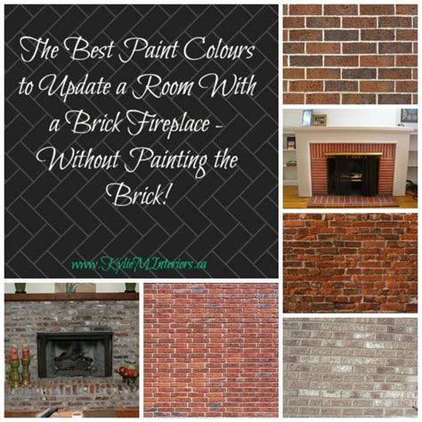 paint colours  update  brick fireplace red