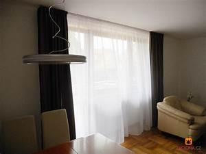 Vorhänge Auf Schienen : halbdurchsichtige gardine in zwei farben und formen heimtex ideen ~ Markanthonyermac.com Haus und Dekorationen