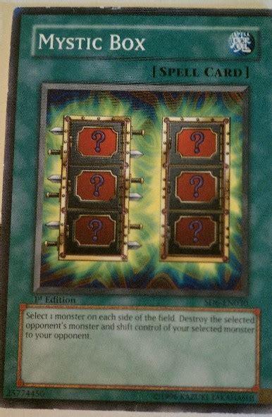mystic box yugioh spell card trading cards