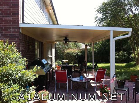 aluminum patio cover with 3 insulated roof in