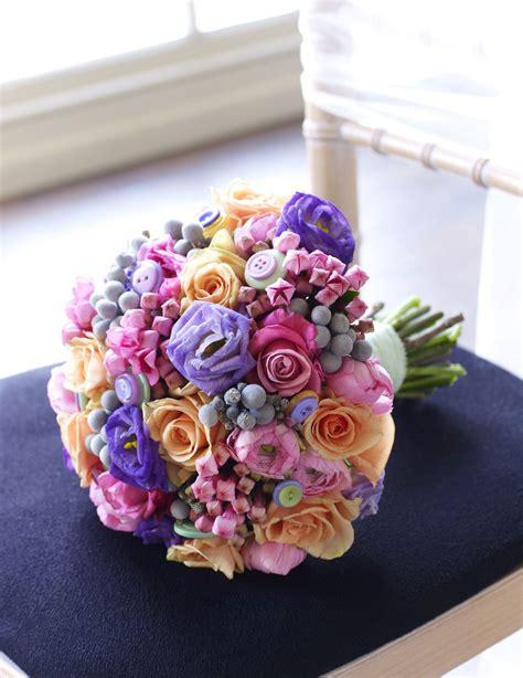 buttons  bouquet pretty mixed flower wedding bouquet
