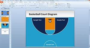 Free Basketball Court Powerpoint Template