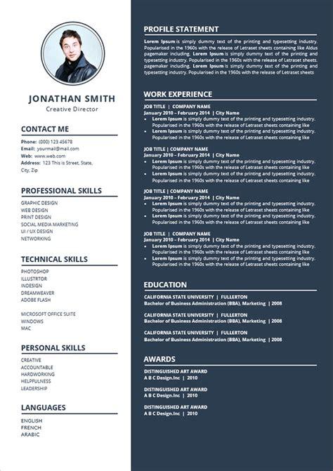 simple  edit word resume cv template good resume