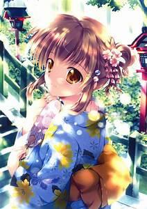 kimono, , yukata, , anime, , girls, , mikeou, , scans, , original, , characters, wallpapers, hd, , , , desktop, and