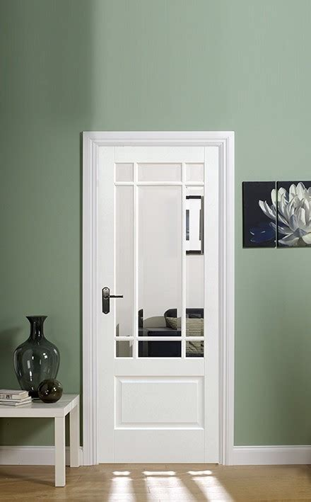 white downham glazed  lpd doors