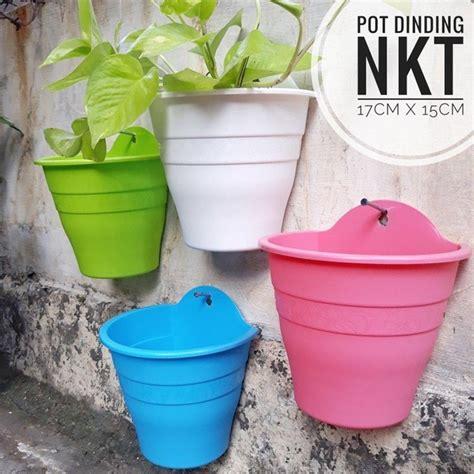 pot dinding plastik pot bunga putih daftar update harga