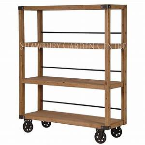 Industrial, Style, Shelving, Unit, On, Wheels