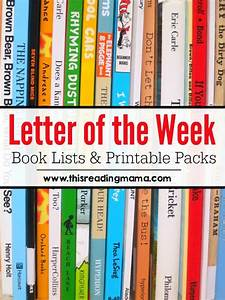 letter of the week book lists free printable abc With letter of the week books