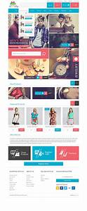 modern modular gift shop e commerce website psd design With e commerce sites templates