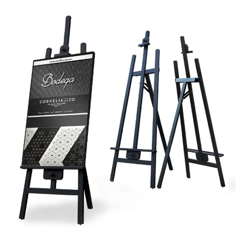 menu stand easel stand display system supply banner