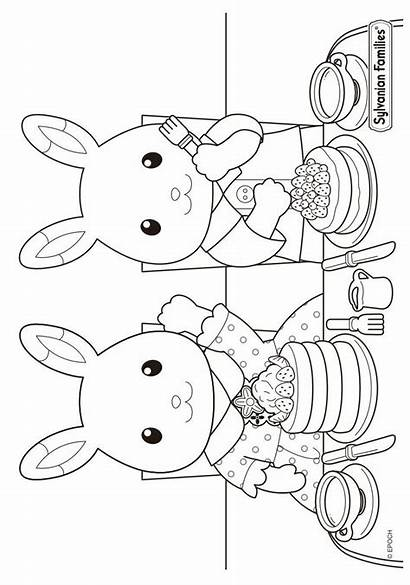 Coloring Calico Critters Pages Sylvanian Families Fun