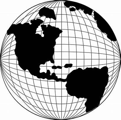 Globe Map Illustration Americas