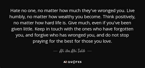 ali ibn abi talib quote hate    matter