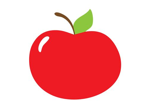 Red Apple Clipart Free Stock Photo - Public Domain Pictures