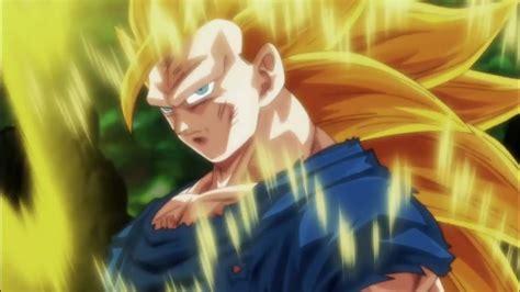 Goku shows Caulifla Super Saiyan 3 Dragon Ball Super