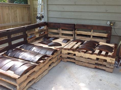 free pallet outdoor furniture plans pit sectional sofa diy pallet outdoor sectional furniture