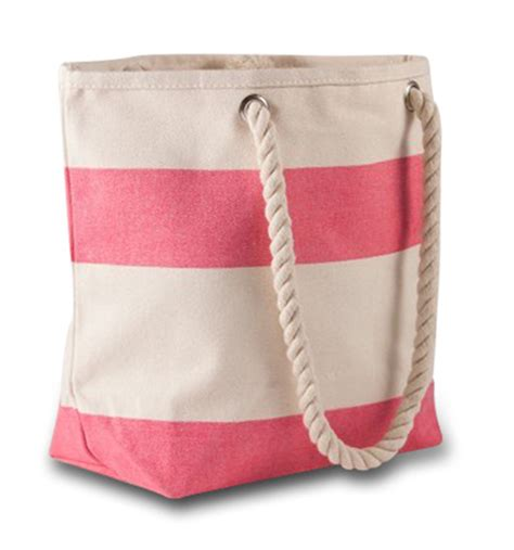 small cute beach tote bag stripe monogram