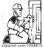 14785 plumber clipart black and white royalty free vector clip illustration of a black and