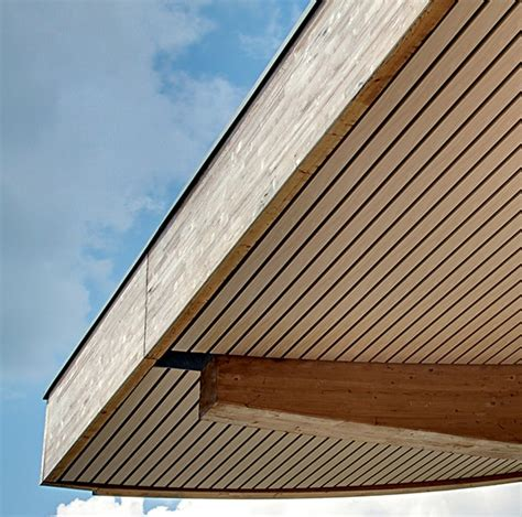 Exterior Wood Ceiling Planks by Houten Buitenplafonds Douglas Architectural