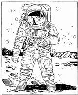 Coloring Astronaut Space Outer Colouring Adults Drawing Drawings Printable Astronauts Cartoon Tooth Planet Timmy Bee Creative Paper Adult Tattoo Projects sketch template
