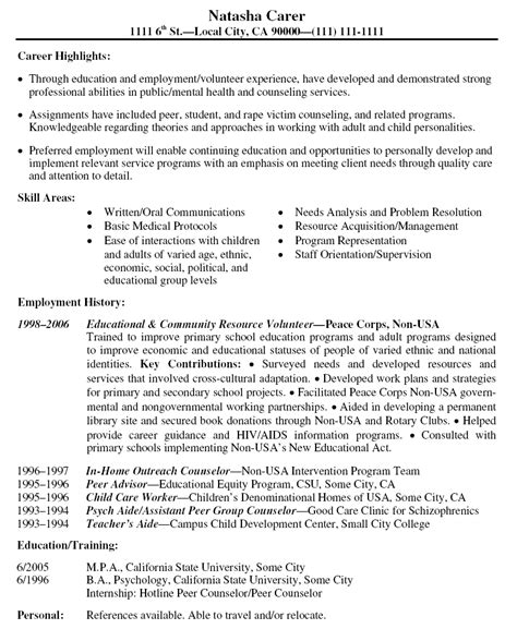15332 volunteer resume template volunteer resume template free resume sles