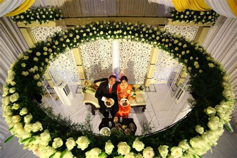 kerala christian wedding stage decor images