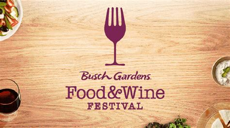 busch gardens food and wine busch gardens to debut their own food wine festival in 2015