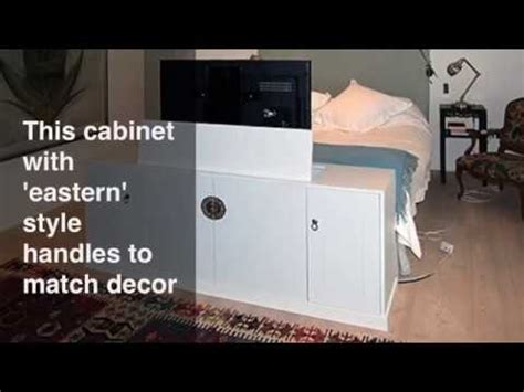 tv lift cabinet    bed youtube