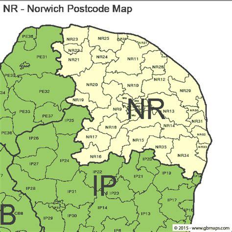 Postcode Map Norwich