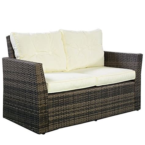 goplus 174 4pc rattan sofa furniture set patio lawn cushioned