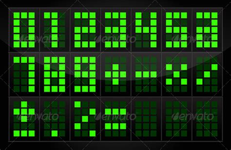 stock vector graphicriver digital numbers table
