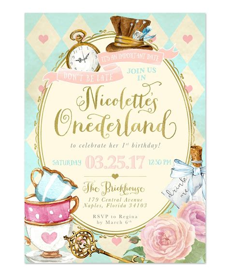 alice  wonderland onederland girls st