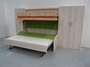 Lit 3 Couchages : lits superposes 3 places maison design ~ Teatrodelosmanantiales.com Idées de Décoration