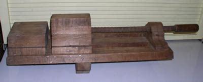 antique  wooden vice