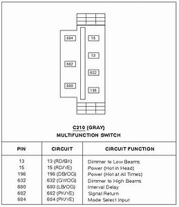 Information On Headlight Wiring Diagram Chart 2000 Ford