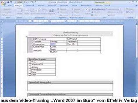 word  formular erstellen youtube