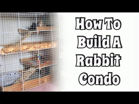 How To Make Your Own Rabbit Hutch by Budgetbunny How To Build Your Own Nic Rabbit Condo