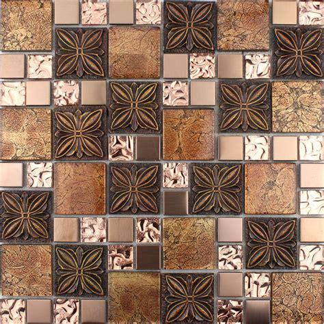 mosaic kitchen tile glass tile brown glass mosaic tiles glass tile 4286