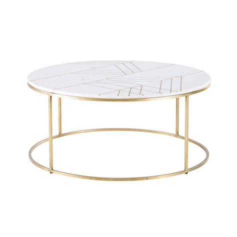 table basse marbre ronde table basse ronde en marbre blanc et fer dor 233 izmir