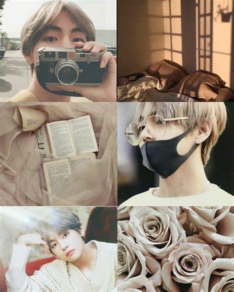 taehyung beige aesthetic bts btstaehyung btsv