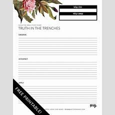 Free Printable Inductive Bible Study Worksheets & Companion Card — Risen Motherhood